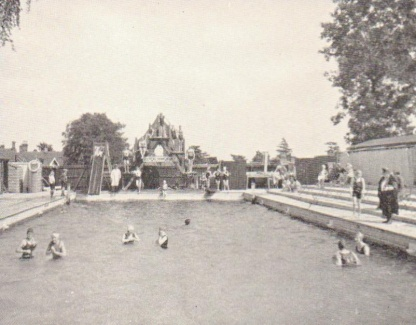 The open air swimming pool in Priory Park, Malvern