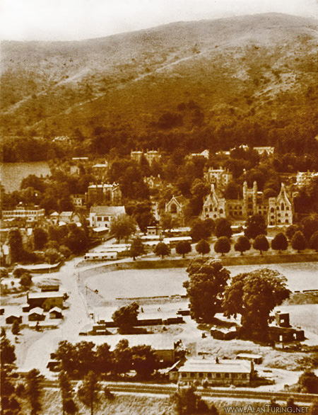 Aerial photograph showing TRE at Malvern College