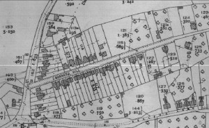 Extract from 1927 OS map showing Helensdale on Barbers Hill